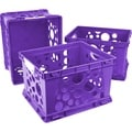 Storex Large Storage and Filing Crate with Comfort Handles