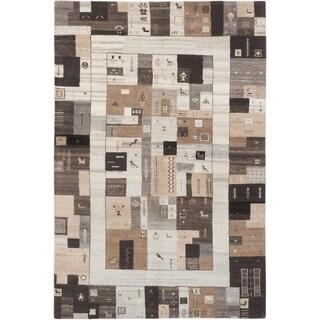 ecarpetgallery Indian Gabbeh Beige Wool Rug (6' x 10')