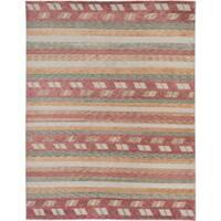 ecarpetgallery Aurora Brown Wool Rug - 9' x 11'