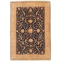 ecarpetgallery Ushak Blue Wool Rug - 6' x 8'