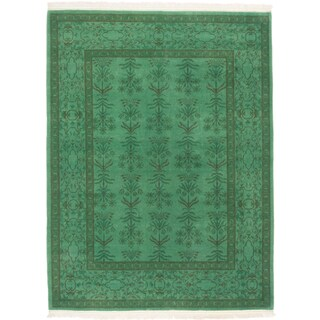 ecarpetgallery Color Transition Green Wool Rug (6' x 8')