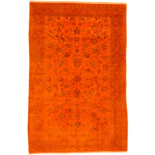 ecarpetgallery Color Transition Orange Wool Rug (6' x 10')