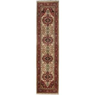 ecarpetgallery Serapi Heritage Beige/ Red Wool Rug (2' x 10')