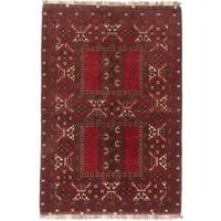 ecarpetgallery Finest Khal Mohammadi Blue/ Red Wool Rug (5' x 8')