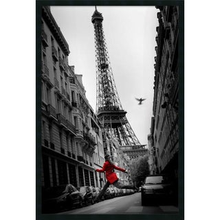La Veste Rouge' Framed Art Print with Gel Coated Finish 25 x 37-inch