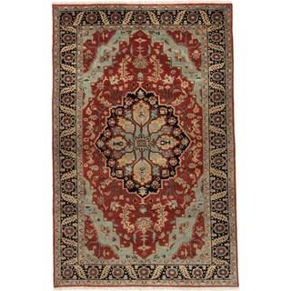ecarpetgallery Serapi Heritage Red Wool Rug (5' x 9')