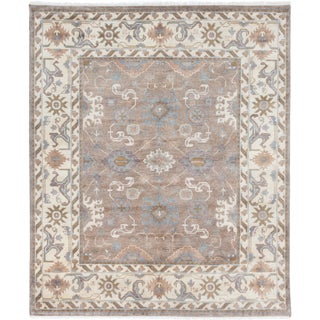 ecarpetgallery Royal Ushak Green Wool Rug (8' x 9')