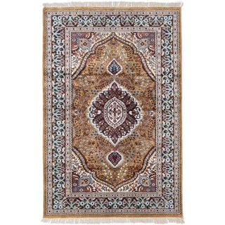 ecarpetgallery Kashmir Orange Silk Rug (3' x 6')