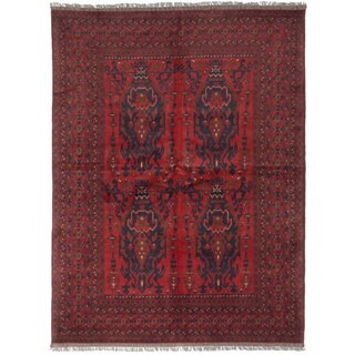 ecarpetgallery Finest Khal Mohammadi Red/ Brown Wool Rug (5' x 7')
