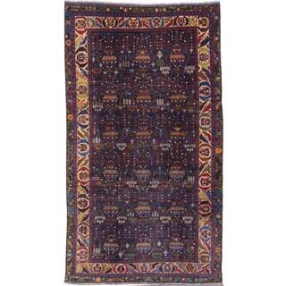 ecarpetgallery Rizbaft Blue Wool Rug (6' x 11')
