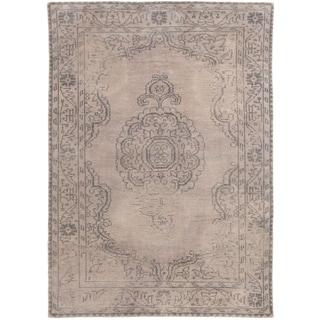ecarpetgallery Eternity Grey Wool Rug (5' x 8')