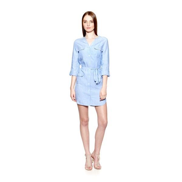 Joie Women X27 S Linen Sovin B 3 4 Sleeve Shirt Dress