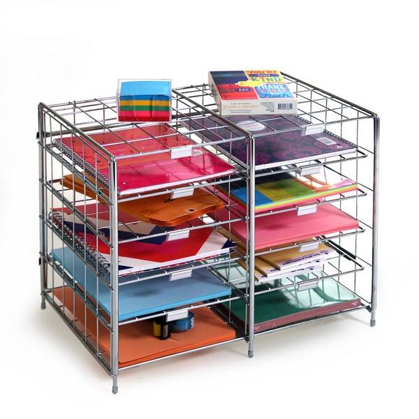 Seville classics 10 slot steel wire desk organizer free - Wire desk organizer ...
