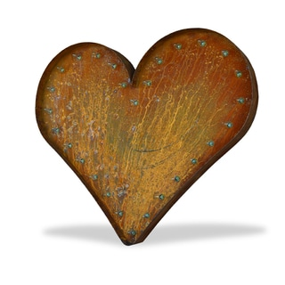 Indoor/ Outdoor Commercial Grade Rusted Steel 3 ft. Heart Marquee Light