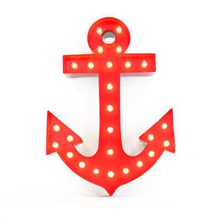 Indoor/ Outdoor Steel Anchor Iconic Profession/Commercial MarqueeLight (Option: Red)