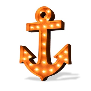 Indoor/ Outdoor Steel Anchor Iconic Marquee Light