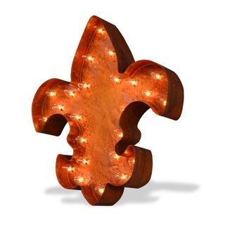 Indoor/ Outdoor Commercial Grade Rusted Steel Fleur-de-lis Profession/Commercial MarqueeLight