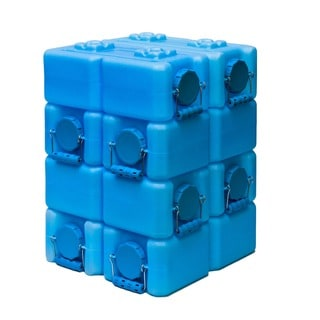 WaterBrick BPA Free 3.5-gallon Water Storage Container (Pack of 8) - Blue