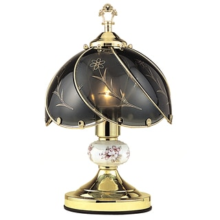 Journee Home 'Nightingale' 14 in. Floral Glass Table Lamp