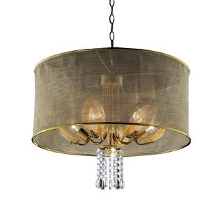 Journee Home 'Sunlit' 20 in. Modern Dangle Crystal Ceiling Lamp