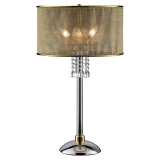 Journee Home 'Sunlit' 30 in. Modern Dangle Crystal Table Lamp