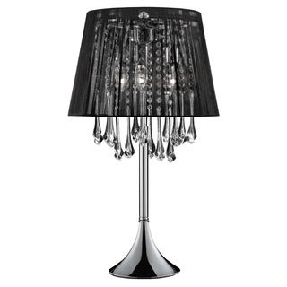 Journee Home 'Shaded' 28 in. Modern Dangle Crystal Table Lamp