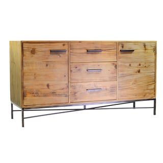 Rustic Natural Iron Base Sideboard
