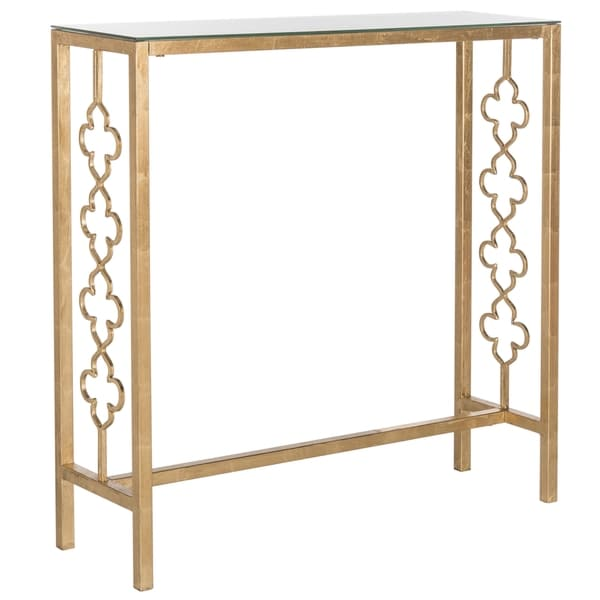 Charming Safavieh Jovanna Antique Gold Leaf Console Table   Free Shipping Today    Overstock.com   17896320