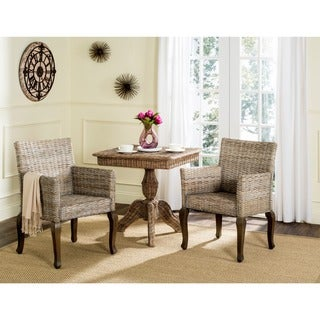 Safavieh Rural Woven Dining Armando White Washed Side Chairs (Set of 2)