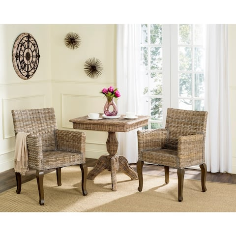 "Safavieh Dining Rural Woven Armando Natural Dining Chairs (Set of 2) - 23"" x 24.4"" x 34"""