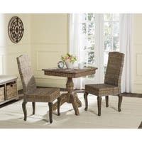 Safavieh Rural Woven Dining Milos Grey Dining Chairs (Set of 2)