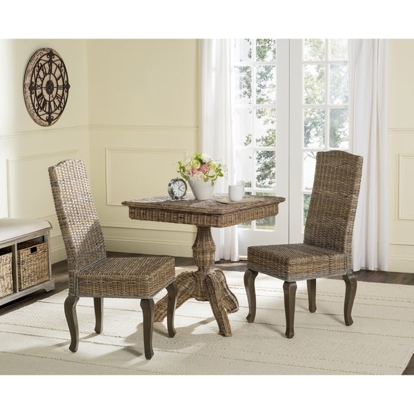 Shop Safavieh Rural Woven Dining Milos Grey Dining Chairs