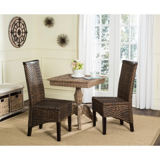 Safavieh Rural Woven Dining Ilya Brown Multi Wicker Side Chairs (Set of 2)