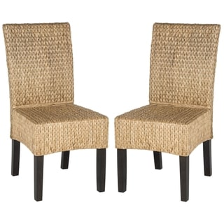 Safavieh Dining Rural Woven Luz Natural Dining Chairs (Set of 2)