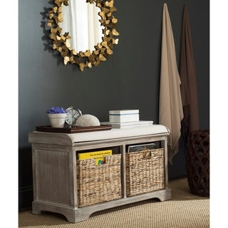 Superbe Safavieh Freddy Winter Melody Wicker Storage Bench