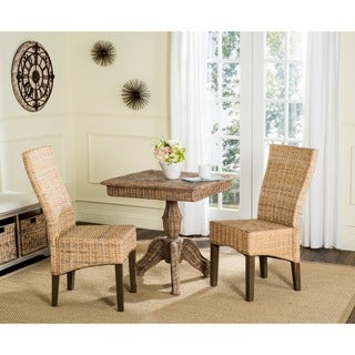 Safavieh Rural Woven Dining Ozias Natural Side Chairs (Set of 2)