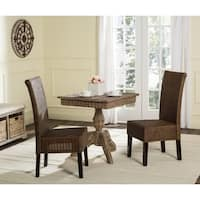Safavieh Rural Woven Dining Arjun Brown Multi Wicker Dining Chairs (Set of 2)