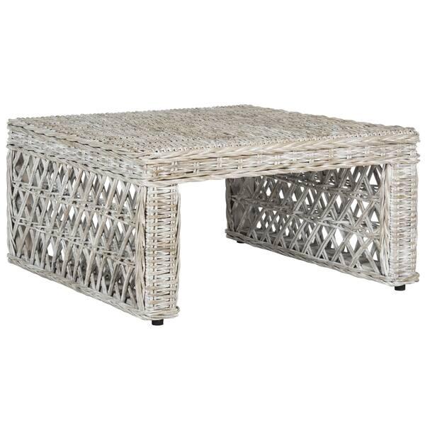 Miraculous Shop Safavieh Shila White Washed Rattan Table 31 5 X 31 5 Ibusinesslaw Wood Chair Design Ideas Ibusinesslaworg