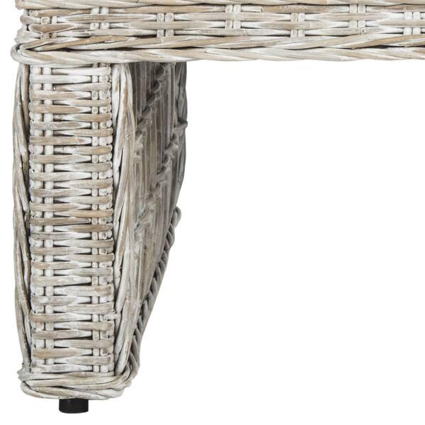 Enjoyable Shop Safavieh Shila White Washed Rattan Table 31 5 X 31 5 Ibusinesslaw Wood Chair Design Ideas Ibusinesslaworg