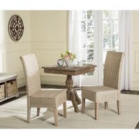 Safavieh Rural Woven Dining Arjun White Washed Wicker Dining Chairs (Set of 2)