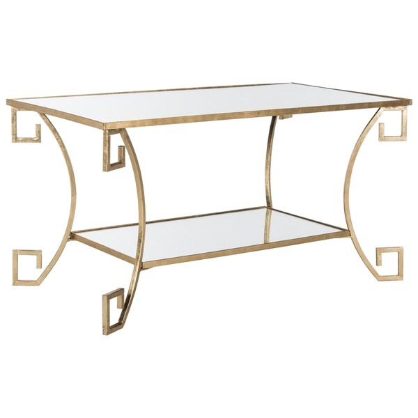 Antique Gold Coffee Table: Shop Safavieh Yasemeen Antique Gold Leaf Coffee Table