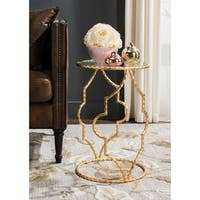 Safavieh Ira Antique Gold Leaf Round End Table