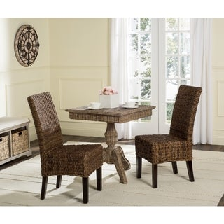 Safavieh Rural Woven Dining Avita Brown Dining Chairs (Set Of 2)
