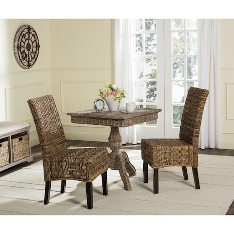"Safavieh Dining Rural Woven Avita Natural Dining Chairs (Set of 2) - 17.3"" x 24"" x 38.5"""