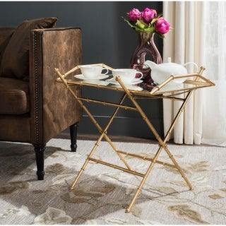 Safavieh Misae Antique Gold Leaf Accent Table