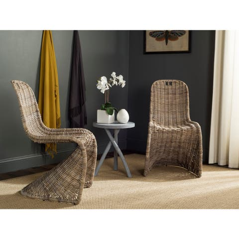 Safavieh Rural Woven Dining Cilombo Grey Dining Chairs (Set of 2)