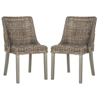Safavieh Rural Woven Dining Caprice Grey Dining Chairs (Set of 2)