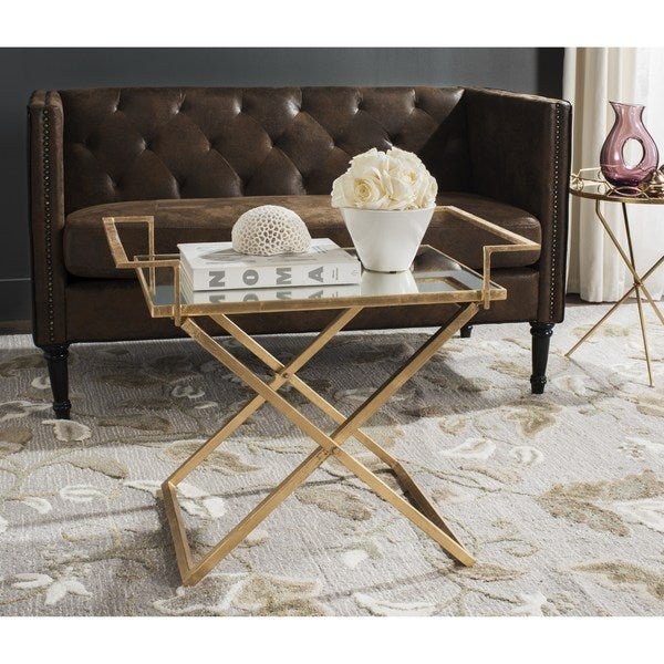 Gold Outdoor Coffee Table: Shop Safavieh Pierre Antique Gold Leaf Accent Table