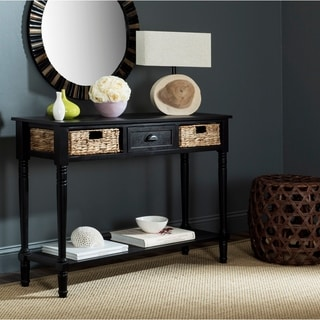 "Safavieh Christa Distressed Black Console Storage Table - 44.5"" x 13.4"" x 31.5"""