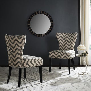 Safavieh En Vogue Dining Jappic Chevron Grey/White Ring Side Chairs (Set of 2)